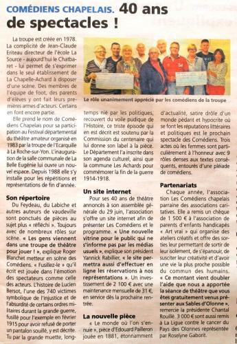 Journal Des Sables  - Juillet 2017