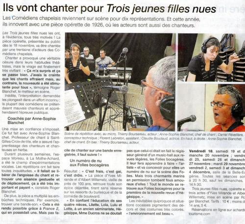 Ouest France - Octobre 2016