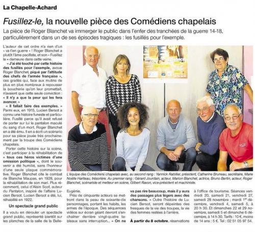 Ouest France - Septembre 2015