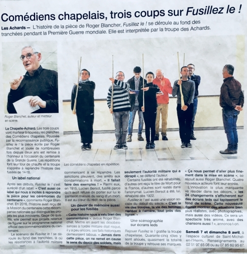 Ouest France - Mars 2018